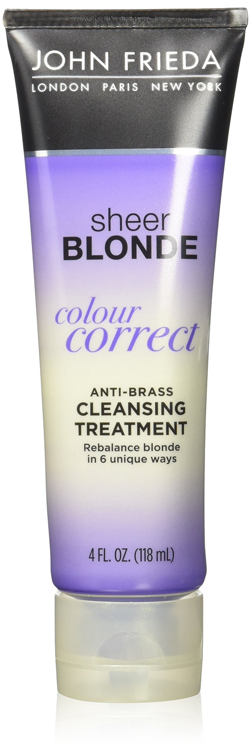 John Frieda Sheer Blonde Colour Correct Anti-Brass Cleansing Treatment, 4 Ounce