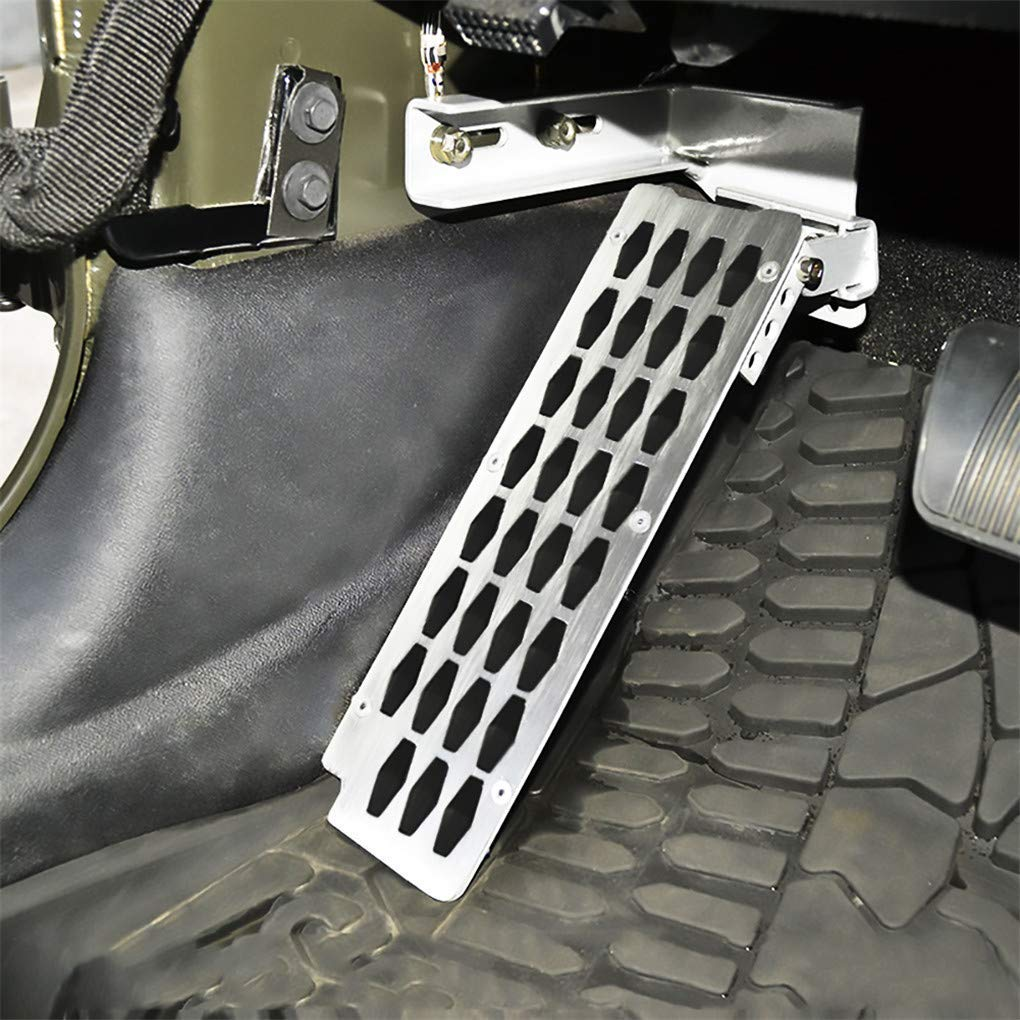 WYYINLI Adjustable Heighten Gas Brake Foot Rest Pedal Accelerator Pad Cover Gas Pedal Kit Fit 2007-2017 Jeep Wrangler Accelerator Pedal