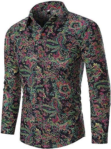 Poachers Camisas de Hombre Estampadas Camisas Hawaianas Hombre Tallas Grandes Camisas Hombre Manga Larga de Vestir Camisas Hombre Verano Flores Camisetas Hombre Originales: Amazon.es: Ropa y accesorios
