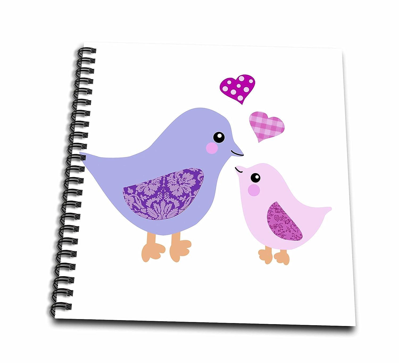 amazon com 3drose db 120280 1 cute purple mom bird and pink baby