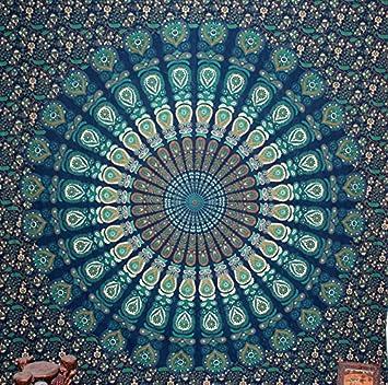 Amazon Com Sultan Handicrafts Floral Peacock Mandala Tapestry