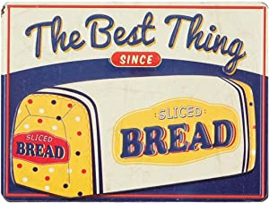Open Road Brands Blue, Yellow and White The Best Thing Sliced Bread Loaf Magnet - an Officially Licensed Product Great Addition to Add What You Love to Wherever You Can Place It
