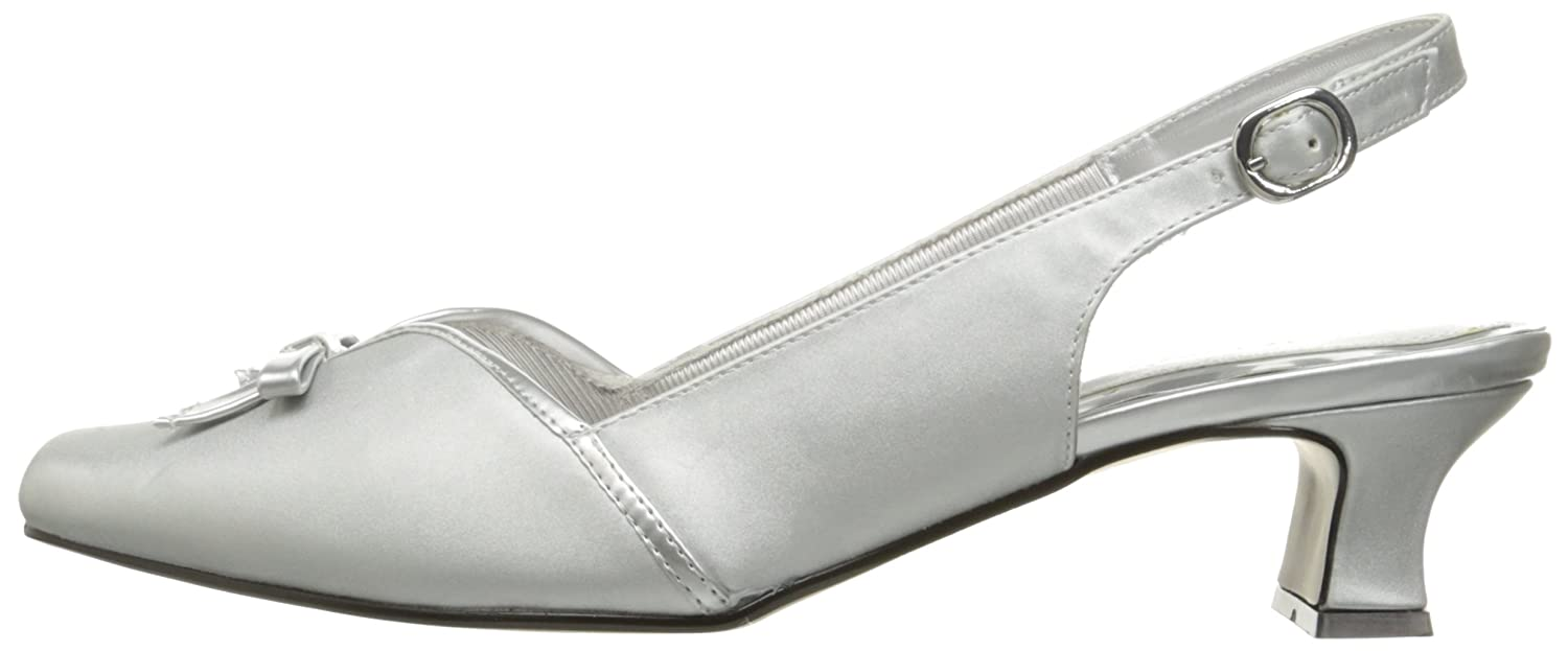 Easy Street Women's Mercury Wedge Pump B075XPX58R 7.5 WW|Silver