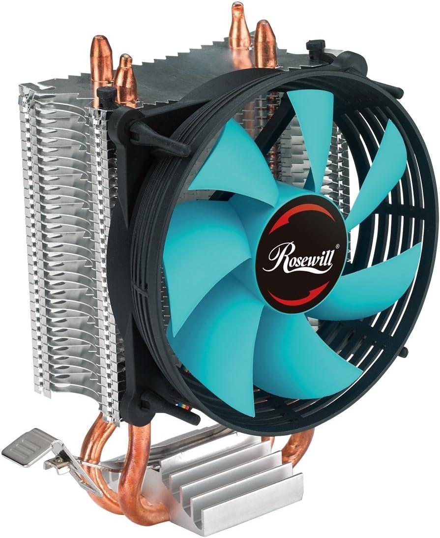 CPU Cooler with PWM CPU Cooling Fan & 2 Direct Contact CPU Heatsink Pipes Support Intel i3/i5/i7 CPU Socket LGA 775/1366/1150/1151/1155/1156 & AMD CPU FM1/FM2/FM2+/AM2/AM2+/AM3/AM3+/AM4