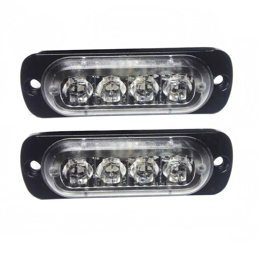 Linchview, coppia di luci lampeggianti frontali, per automobili, a SMD LED, alimentate con CC de 12 V, con 16 diverse modalità di lampeggiamento; utilizzabili come frecce e indicatori di posizione, con luce di colore giallo 2716653633