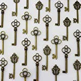 LolliBeads (TM) Mixed Set of 30 Large Skeleton Keys in Antique Bronze - Set of 30 Keys by LolliBeads