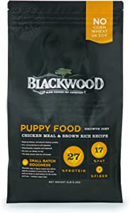 Blackwood Pet Food 075492050116 Chicken Meal & Rice Recipe Puppy Growth Diet Dry Dog Food, 5Lbs