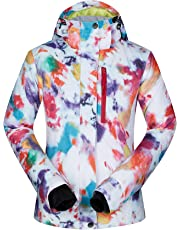 Women s Ski Jacket Outdoor Waterproof Windproof Coat Snowboard Mountain  Rain Jacket Bright Colorful Print aa5c45214