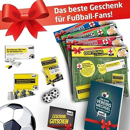 Bundesliga Notfall-Set | Witziges Männergeschenk für Fußball-Fans | Die LIGApotheke für 42 Top-Vereine | Süße Schmerzmittel +