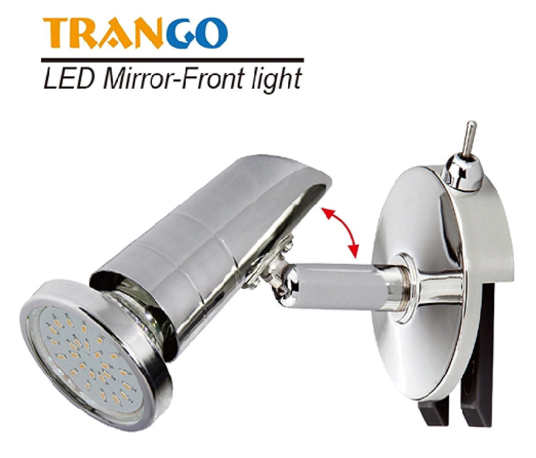 Trango LED Spiegelleuchte Bad Lampe Badleuchte mit ON/OFF Schalter ...