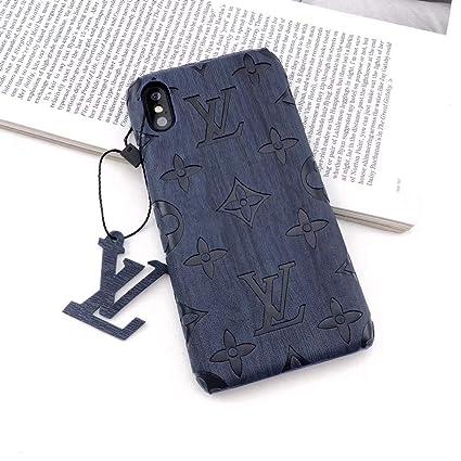 Amazon.com: Funda para iPhone, piel de grano de madera ...