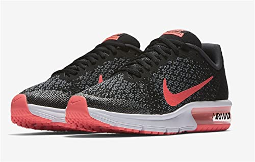Nike Kids Air Max Sequent 2 GS, Black/Racer Pink-Anthracite, Youth