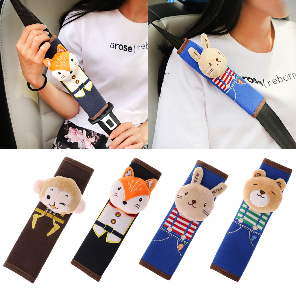 Rabbit Manyo Car Seat Safety Belt Shoulder Pad Baby Cartoon Cover Children Protection Cushion