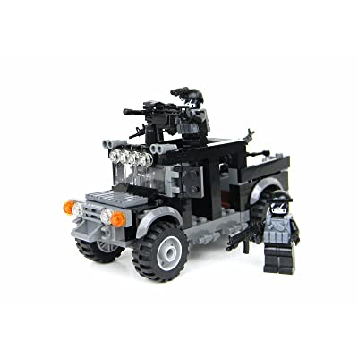 Battle Brick Special Forces Black Operations Truck Custom Set: Toys & Games