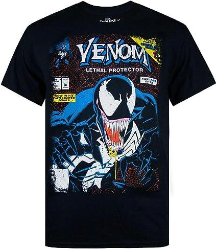 TALLA L. Marvel Venom Comic Men's Black T-Shirt