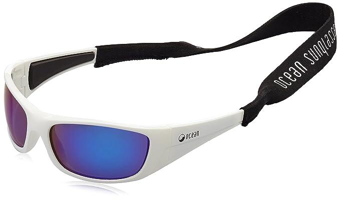 Ocean Sunglasses Bermuda - lunettes de soleil polarisées - Monture : Blanc Laqué - Verres : Revo Bleu (3401.2) 0hnBuS