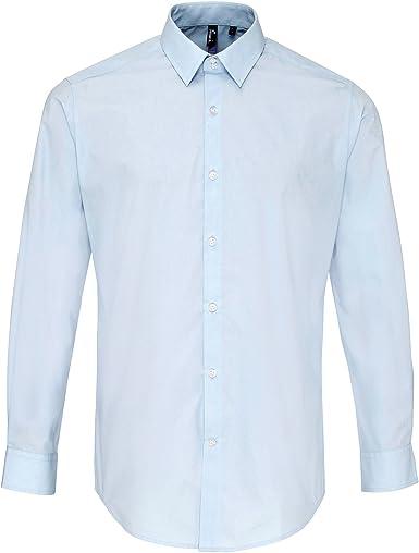 Premier - Camisa de Popelina de Manga Larga Gruesa de Primera Calidad para Trabajar Hombre Caballero - Trabajo/Fiesta/Verano: Amazon.es: Ropa y accesorios