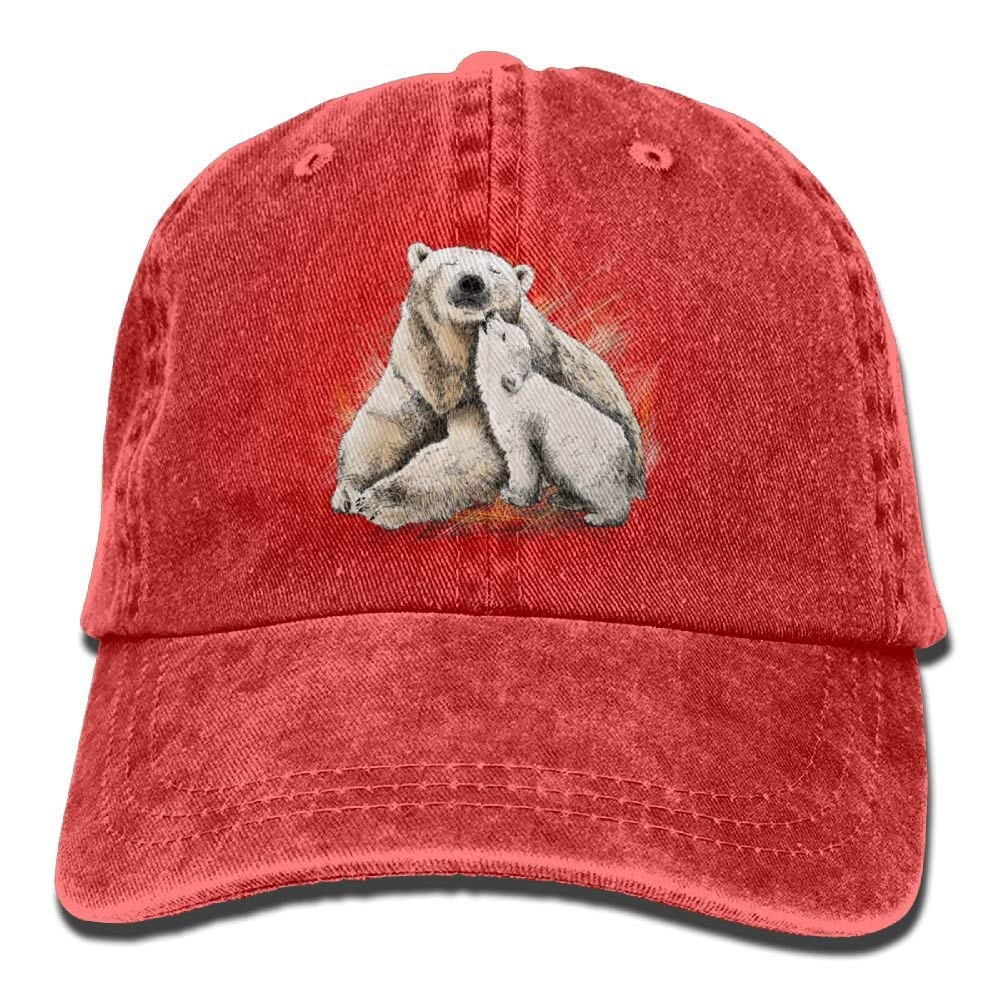 ONGH Big Polar Bear Little Polar Bear Denim Hat Hombre Surf Gorra ...
