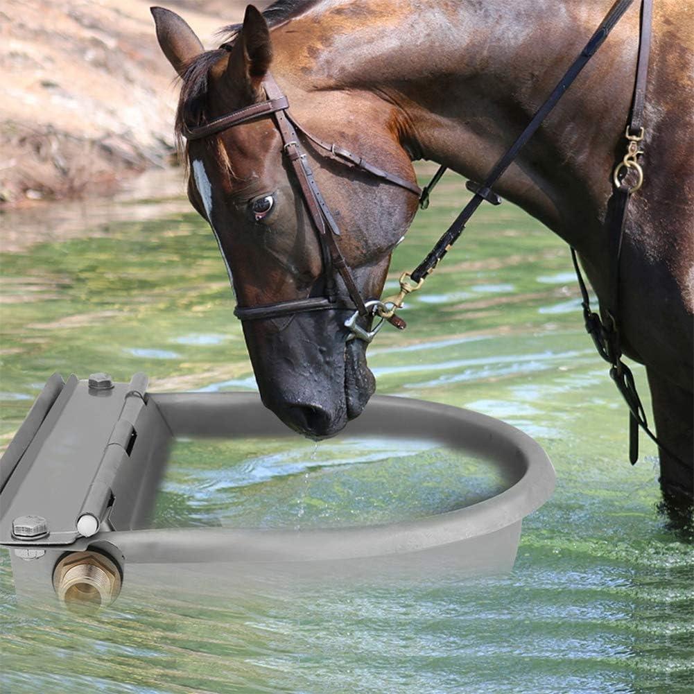 Ganado bebedero automático, 4Litro acero inoxidable cuenco al agua beber automática para caballos chèvres bovins