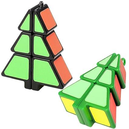 Christmas Brain Teasers.Amazon Com Christmas Tree Magic Cube Set Brain Teasers