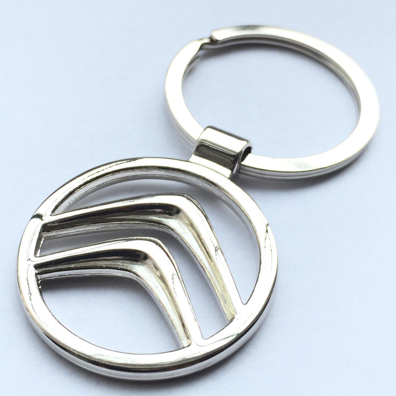 Citroen Keyring Genuine Leather Keyring Keyfob