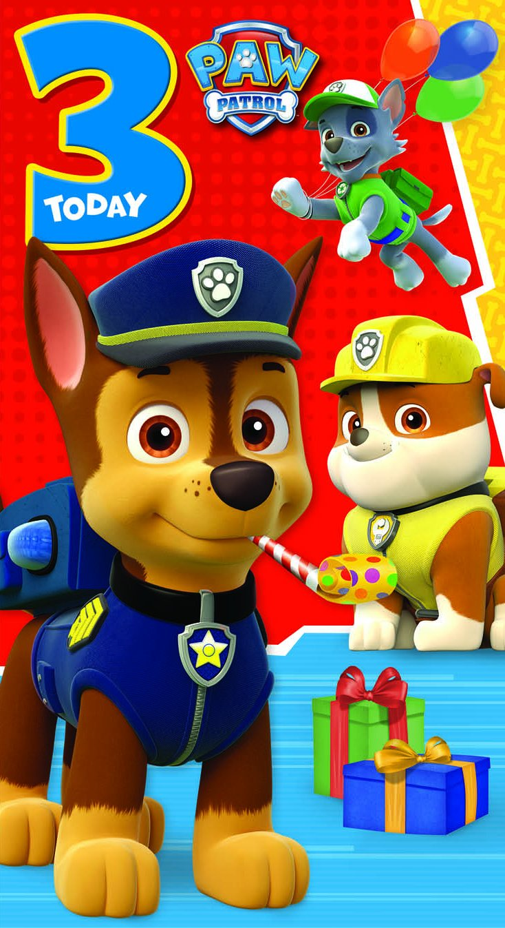 Amazon paw patrol time to party 3rd birthday greeting card amazon paw patrol time to party 3rd birthday greeting card health personal care kristyandbryce Image collections