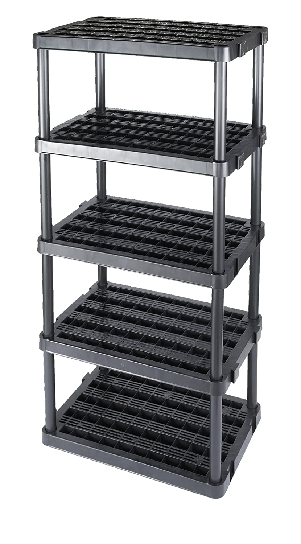Amazon.com: Gracious Living Adjustable 5 Shelf Medium Duty Shelving Unit:  Home U0026 Kitchen