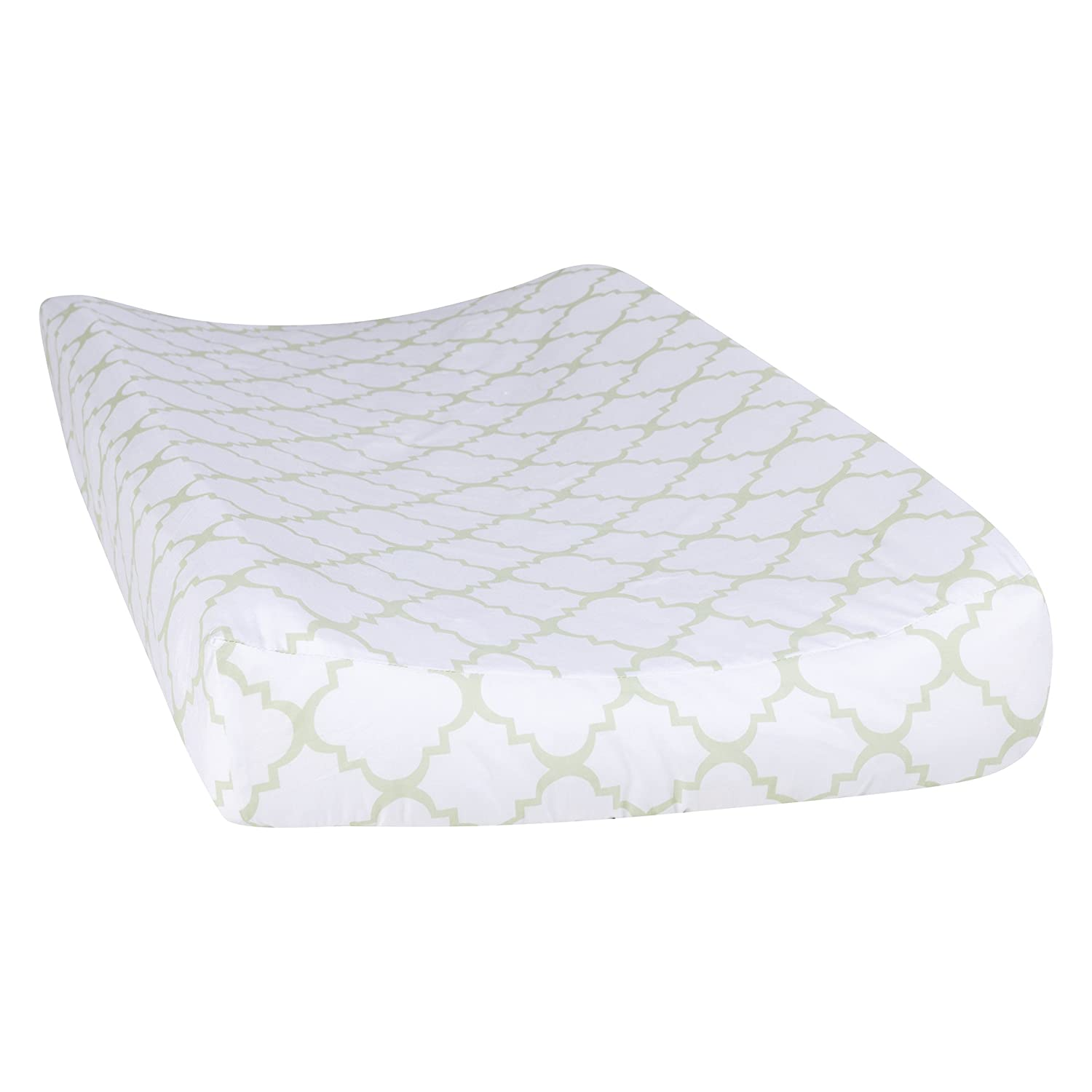 Trend Lab Sea Foam Quatrefoil Changing Pad Cover, Sage 101690