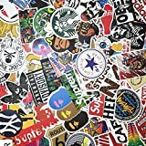 "Custom & Decorative {2.4"" to 5"" Inch} 100 Bulk Pack of Jumbo Size Stickers for Arts, Crafts & Scrapbooking w/ Random Vinyl Skateboard Pop Art Bomb Laptop Luggage Dope Assorted Lot Style {Multicolor}"