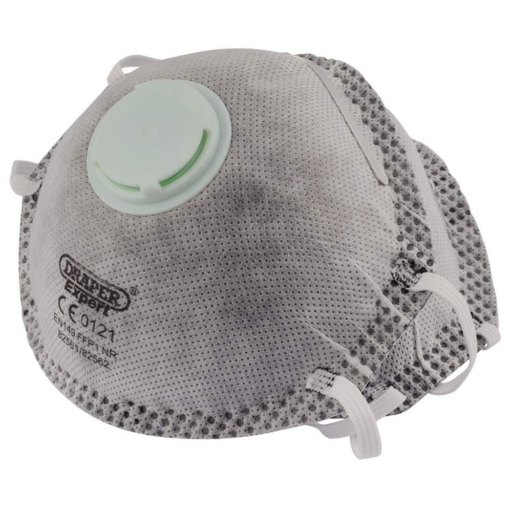 Draper 82561 FFP1 NR Dust Masks with Charcoal Activated Filter for Painting and Decorating 10-Piece
