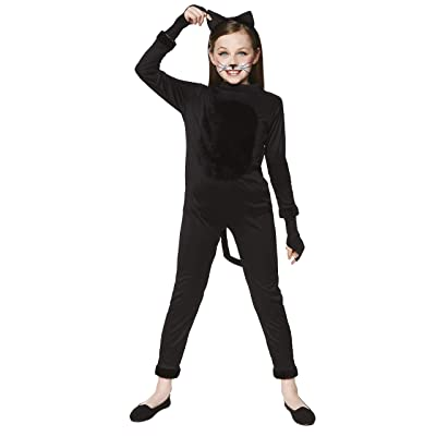 Girl's Cat Suit Costume - for Halloween, Costume Party Accessory - Small: Clothing