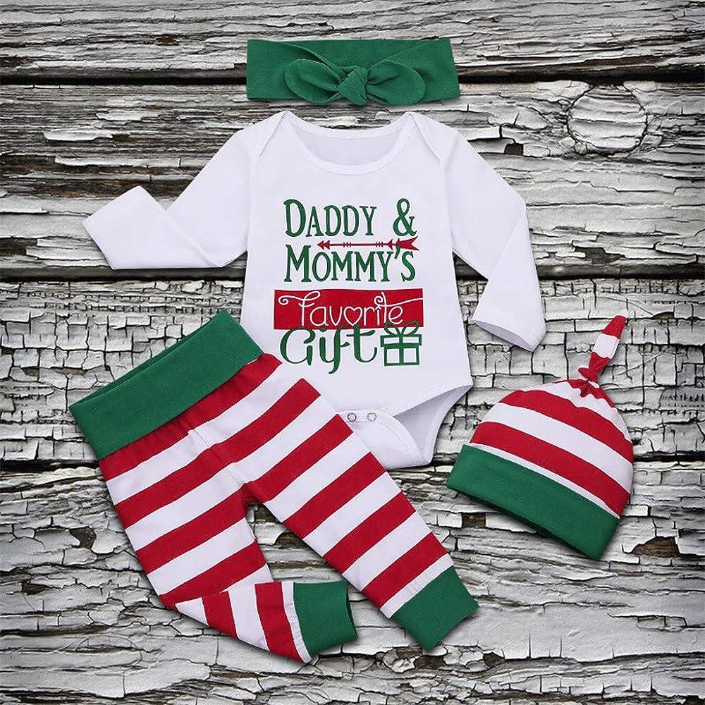 BBSMLIN Disfraz Navidad Bebe Niña Body de Letras + Pantalón a ...
