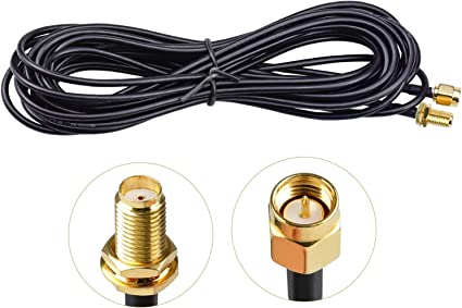 WEKON 5m WiFi Cable Alargador de Antena,Cable Rg174,FPV Cable de Antena,Rp-SMA Cable Alargador de Antena, para Homematic Ccu3 Raspberry Ccu2 Pi