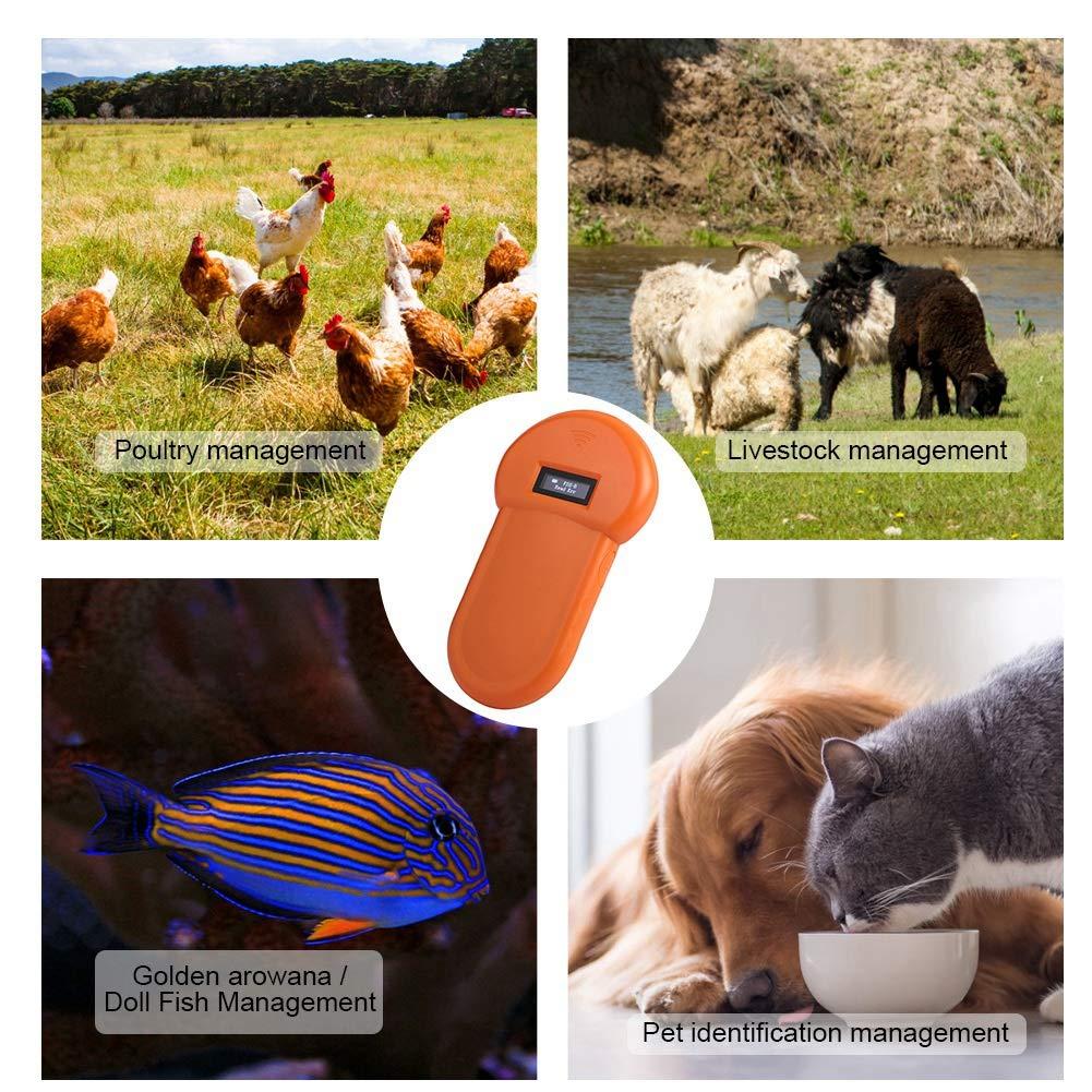 Microchip Scanner Portable Tier Identifikation-Leser LCD-Anzeige Mikrochip-Haustier-Reader-RFID 134.2Khz
