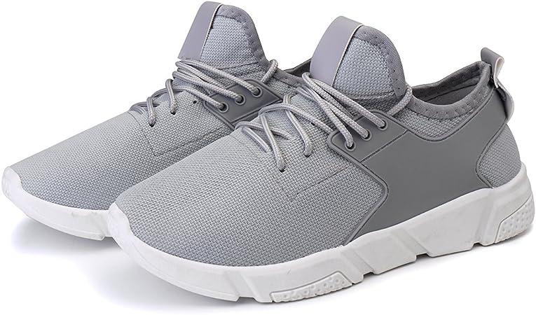 Bluelover Moda Hombres Atletismo Casual Zapatos Malla Transpirable Deportes Running Entrenamiento Zapatillas - 7,5 - Gris: Amazon.es: Hogar