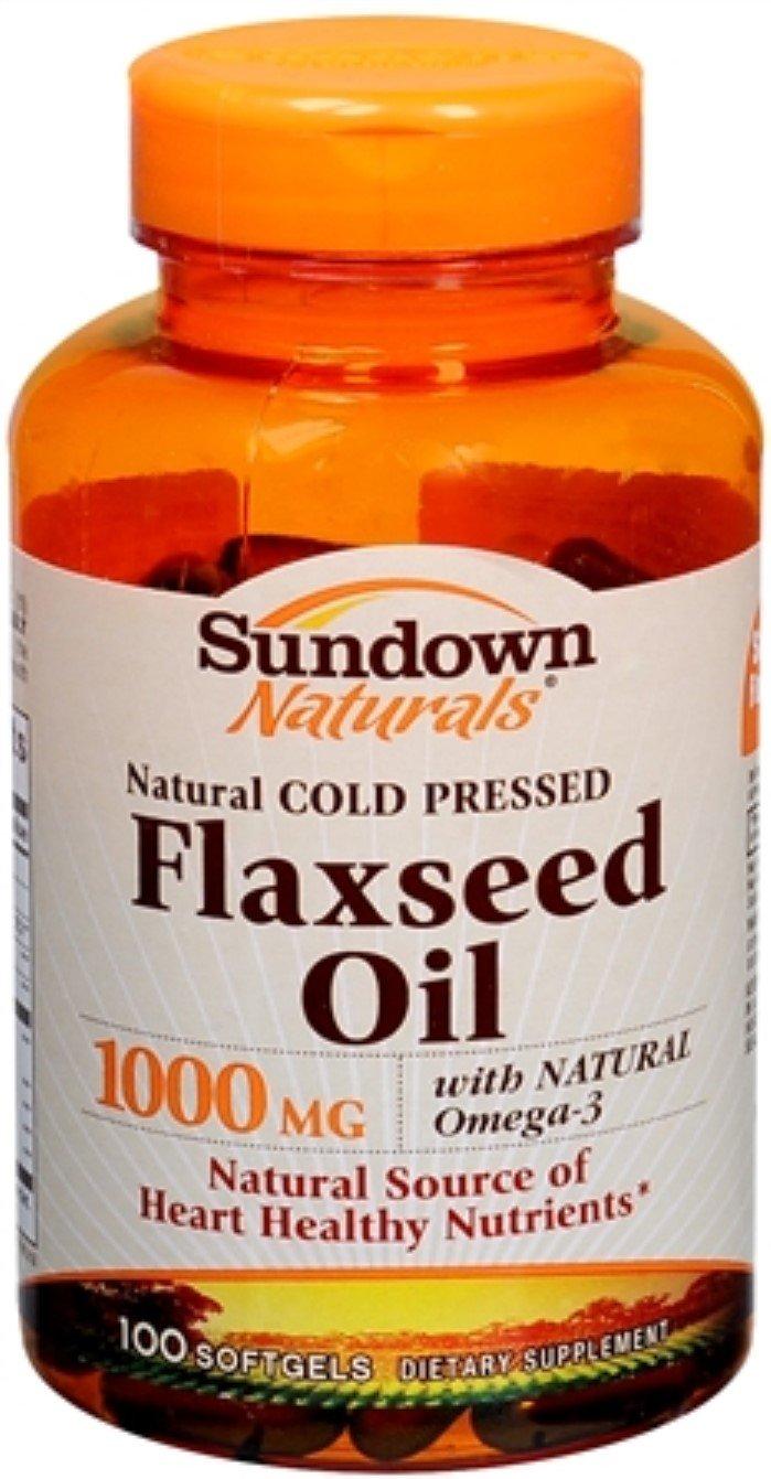 Sundown Naturals Flaxseed Oil 1000 mg Softgels 100 Soft Gels (Pack of 11)