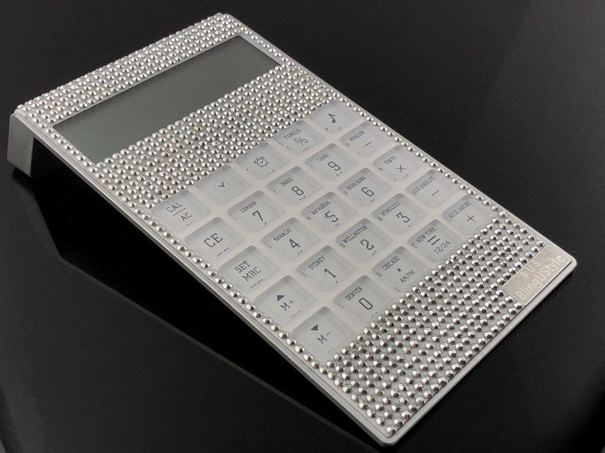 Calculadora con incrustaciones brillantes de 12 dígitos ...