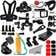 Kupton Accessories for GoPro Hero 7 Black / 6/5 Action Camcorder Camera Accessories Mounts Waterproof Housing Case Chest Head Strap Bike Car Backpack Clip Mount for Go Pro Hero7 Hero6 Hero5