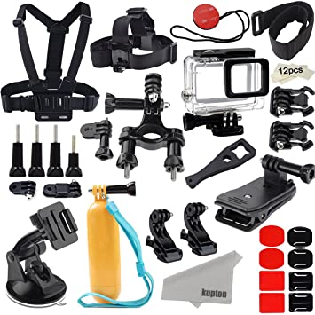 Amazon.com: Kupton Accessories for GoPro Hero 6/5 Action Camcorder ...