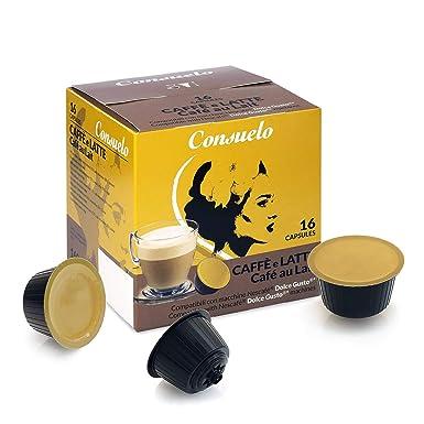 Consuelo - Cápsulas compatibles con cafetera Dolce Gusto*: café con leche, 96 unidades (16 x 6)
