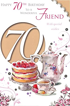 Xpress Yourself Female Friend 70 Celebrate Today Medium Sized Style Birthday Card