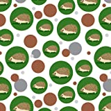 Hedgehog on Green Premium Gift Wrap Wrapping Paper Roll