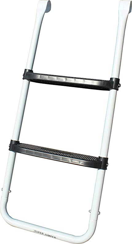 Super Jumper 2 Steps Ladder Trampoline, White