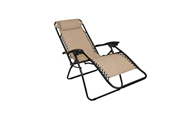 Fauteuil relax inclinable pliant taupe: Amazon.fr: Jardin