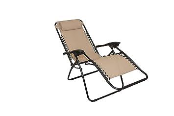 Kit 2 pièces - Chaise Longue inclinable Pliable Gravité Zéro ...