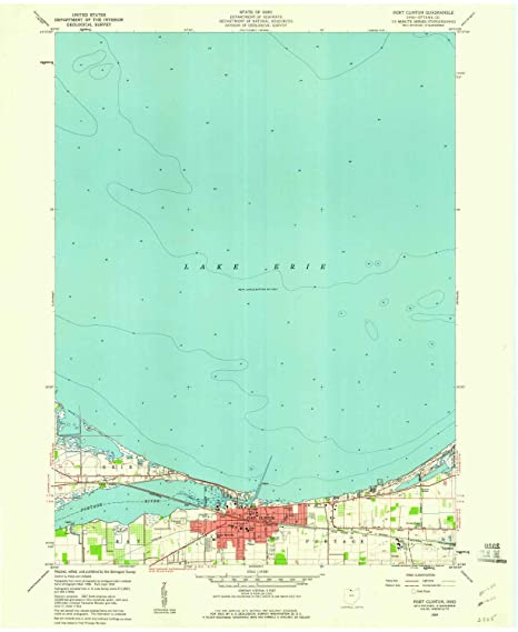 Amazon Com Yellowmaps Port Clinton Oh Topo Map 1 24000 Scale 7 5