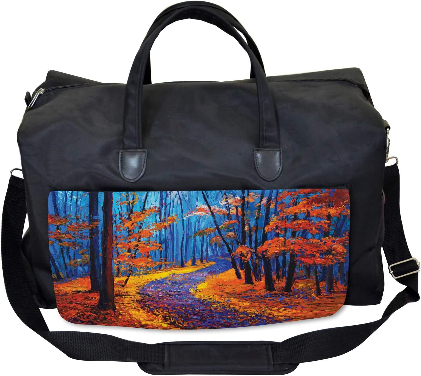 Forest in Fall Season Ambesonne Autumn Gym Bag Large Weekender Carry-on