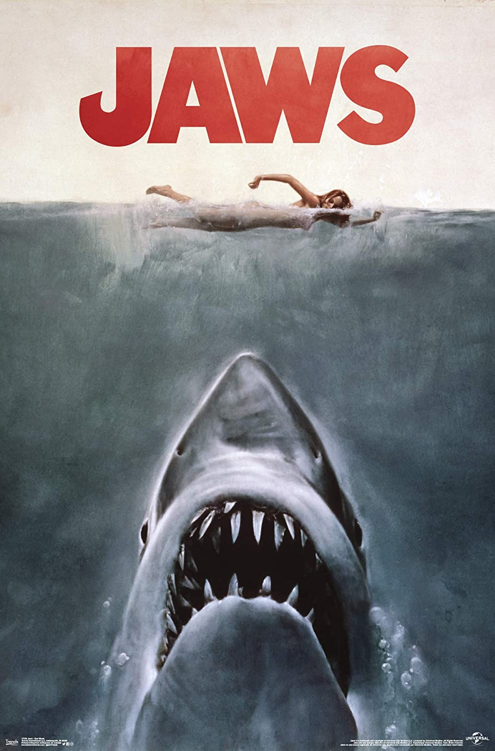 "Trends International Jaws - One Sheet Wall Poster, 22.375"" x 34"", Multi"