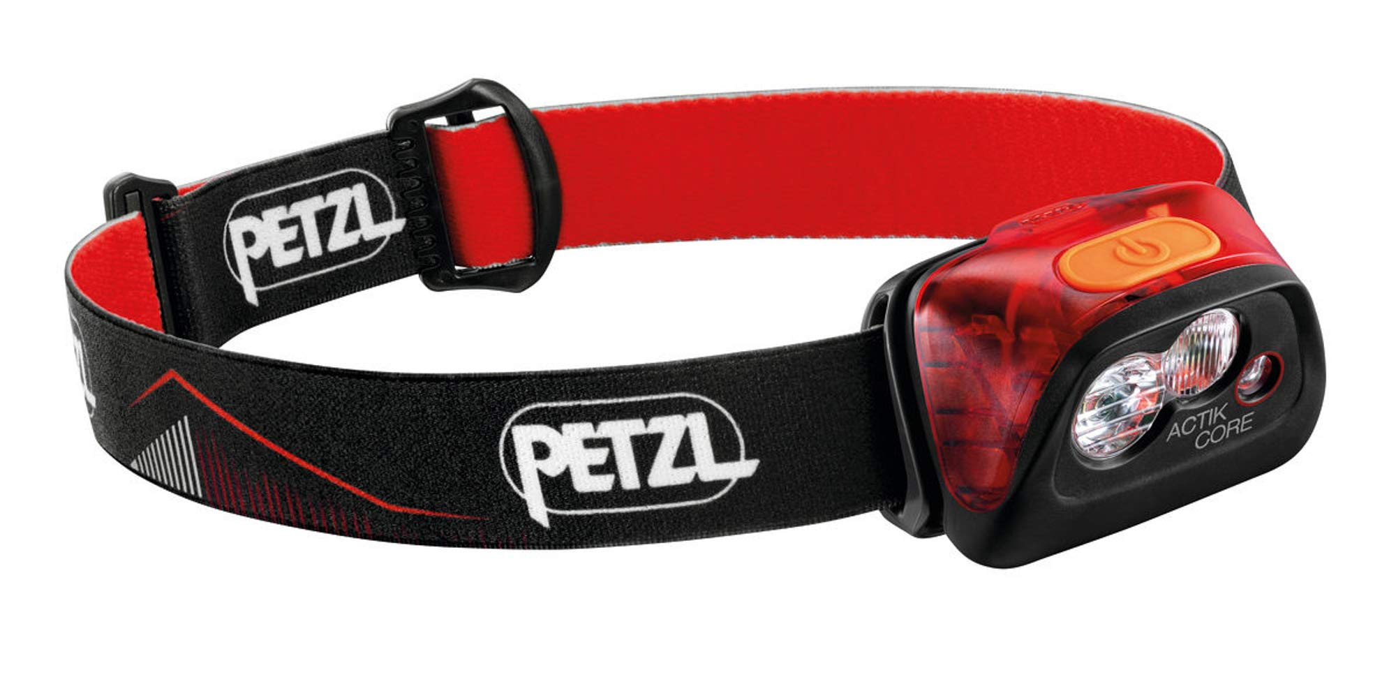 PETZL, ACTIK CORE Headlamp, 450 Lumens, Rechargeable, with CORE Battery, Black