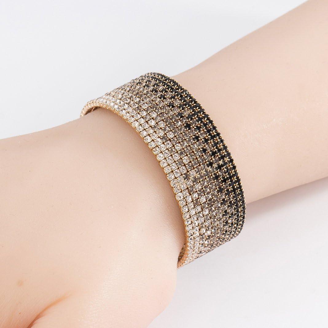 Elegant Deluxe Austrian Crystal Bracelets Womens Infinity Rhinestone Bangle JKU